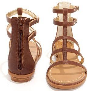 Seychelles Aim High Whiskey Leather Gladiator Sand